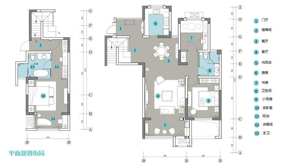 小洋房平面规划布局