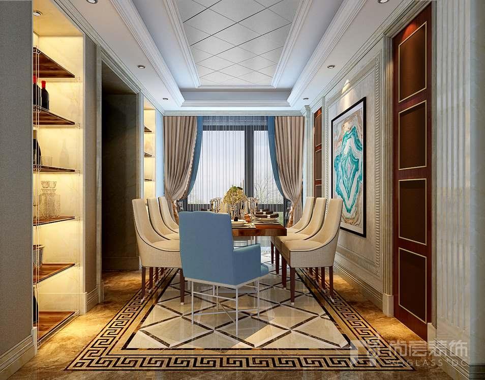 泛海国际现代美式餐厅别墅装修效果图