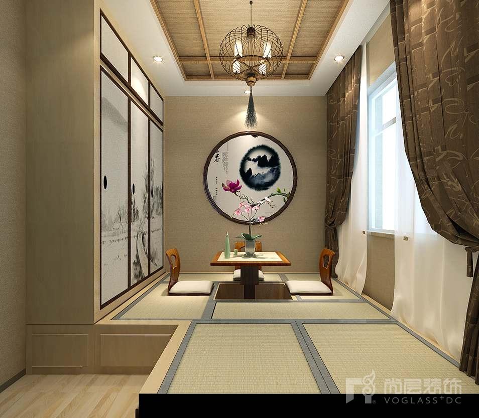 上京王府新古典和室别墅装修效果图