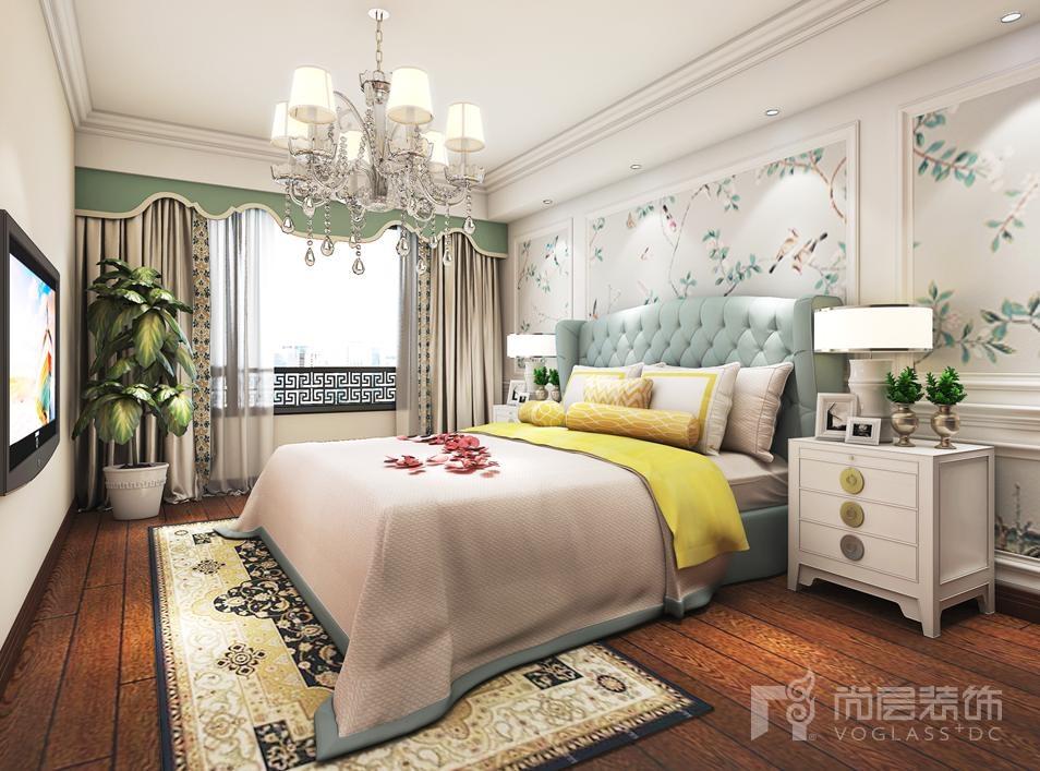 万科如园美式卧室别墅装修效果图