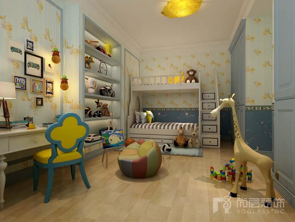 千章墅美式新古典儿童房别墅装修效果图