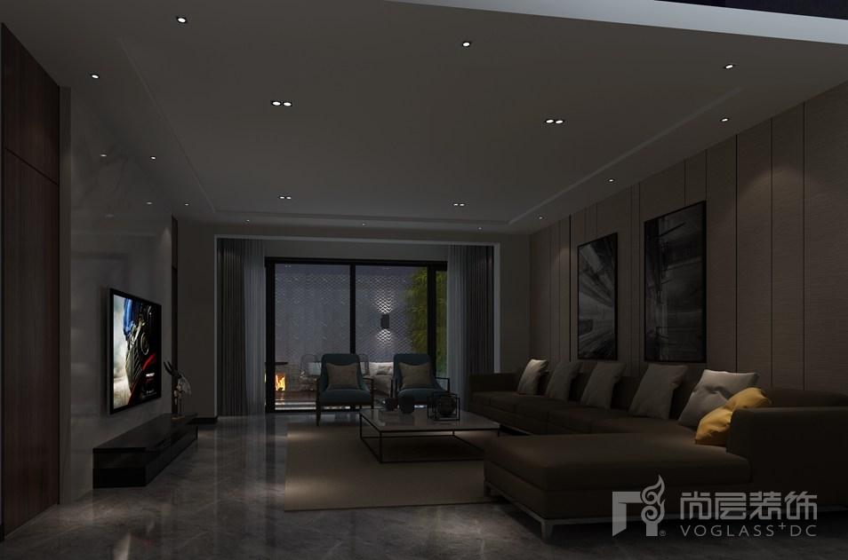 复地首府现代简约客厅别墅装修效果图