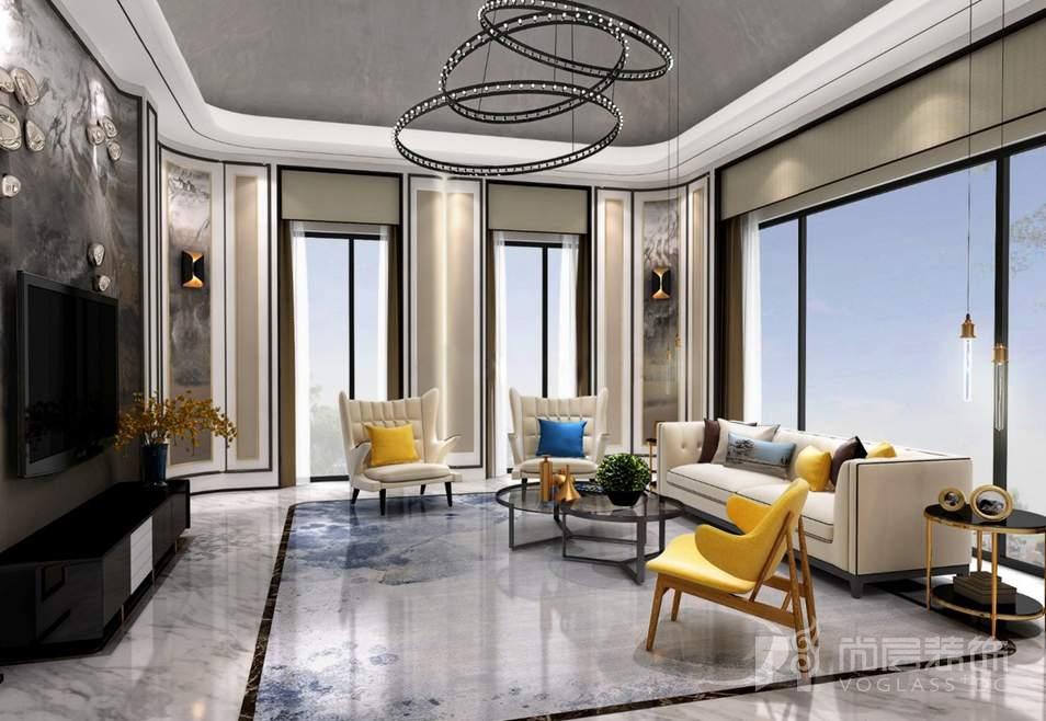 棕榈滩中式客厅别墅装修效果图