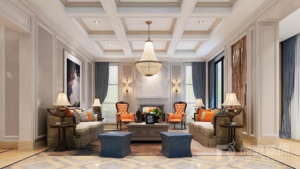 华润中央公园客厅装修设计效果图
