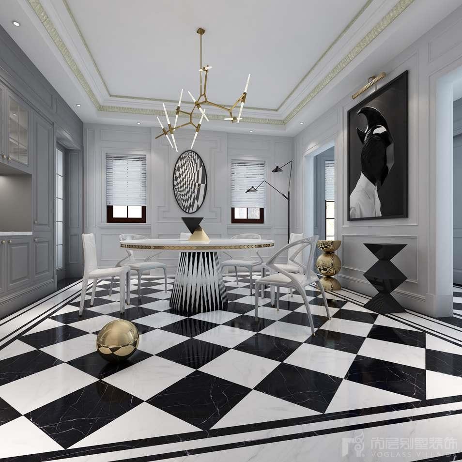 凯德麓语新古典餐厅别墅装修效果图