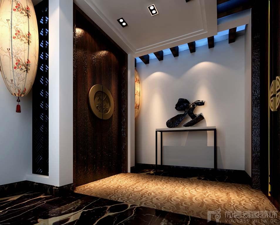 天贵人和新中式门厅别墅装修效果图