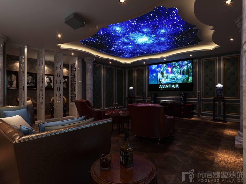 中海紫御豪庭视听室设计效果图