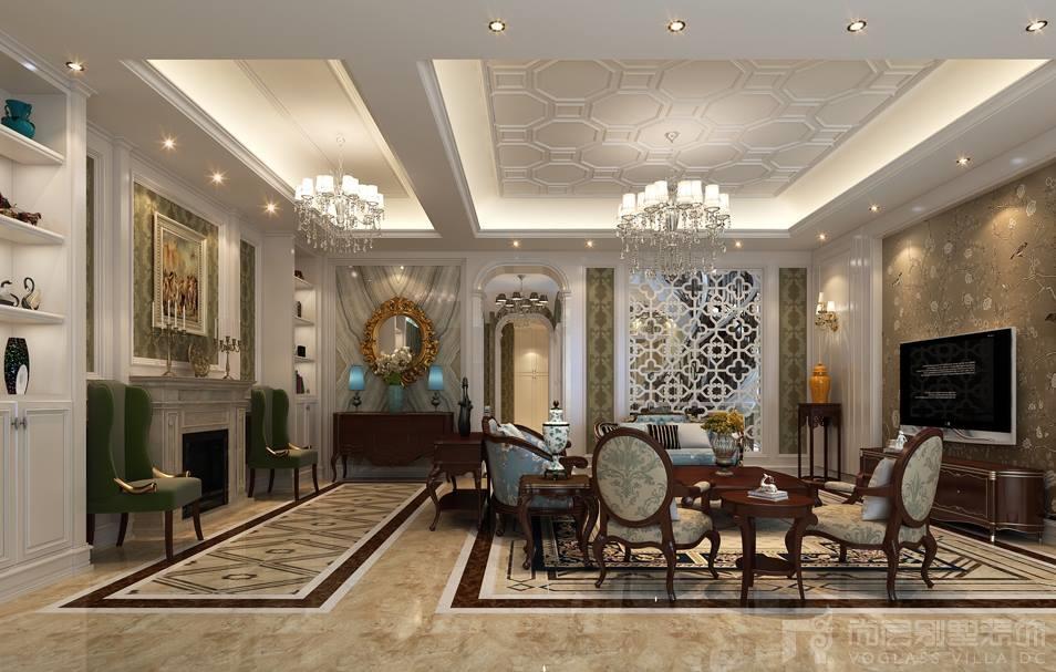 中海紫御豪庭客厅设计效果图