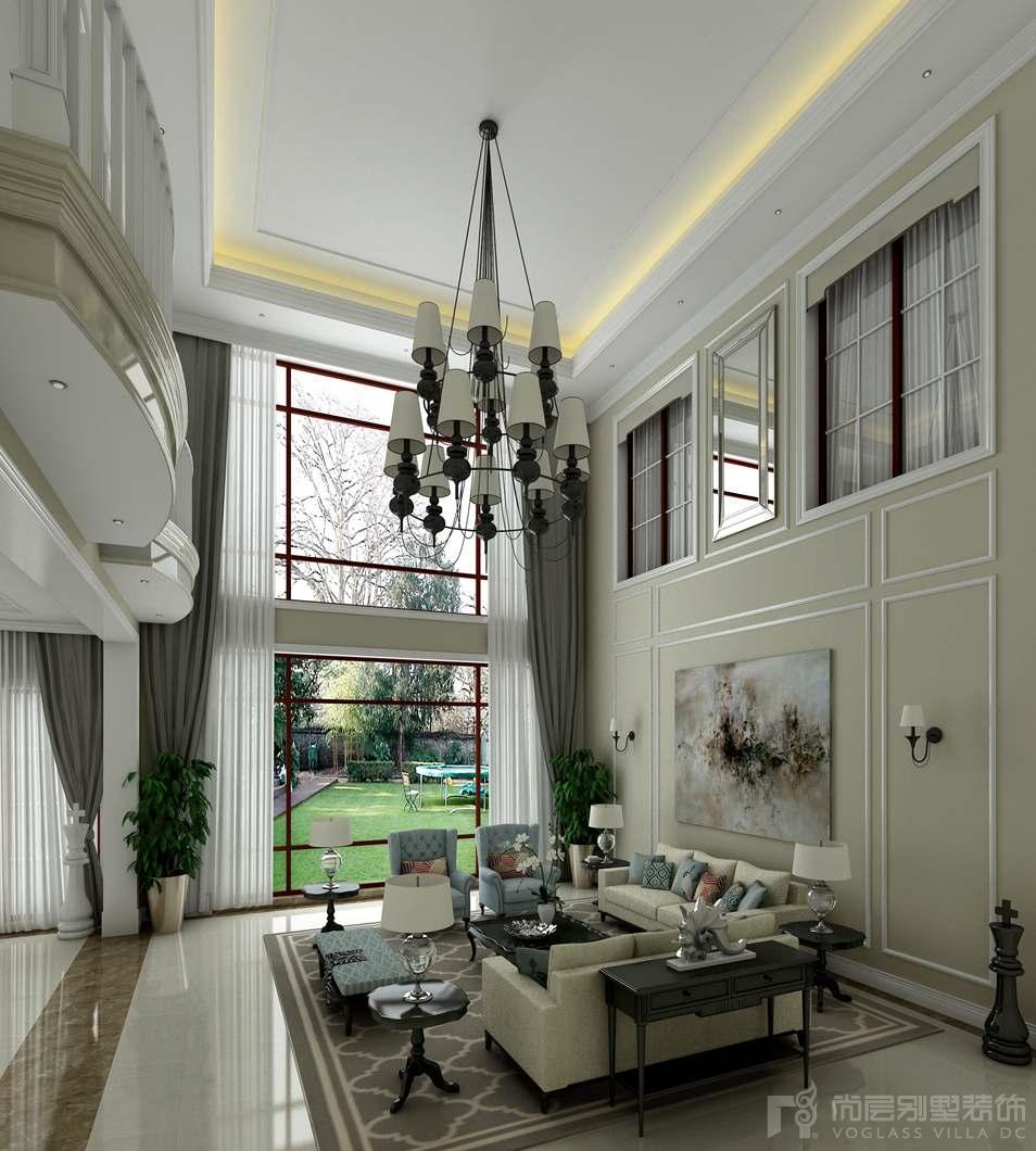 御汤山现代美式家庭室别墅效果图