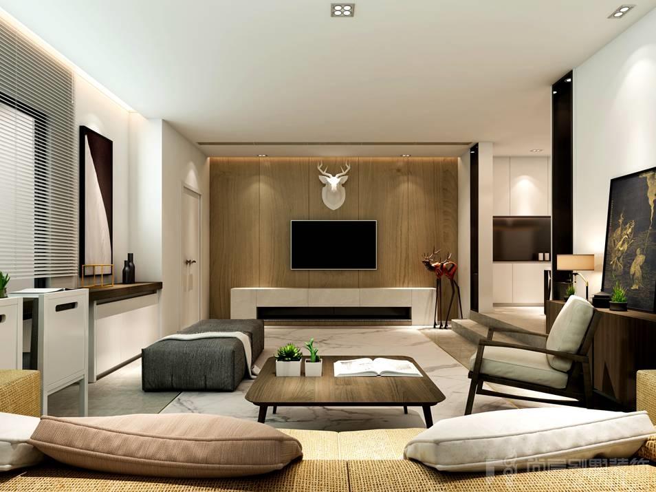 孔雀城新北欧客厅别墅装修效果图图片