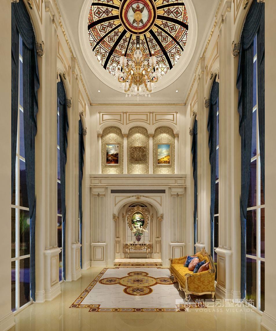 华洲君庭别墅门厅设计