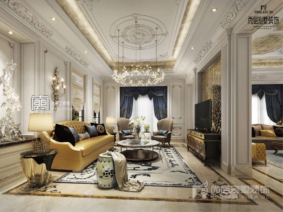1200平豪宅客厅装修实景