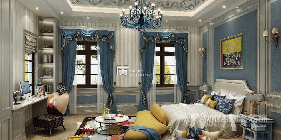 1200平豪宅卧室装修实景
