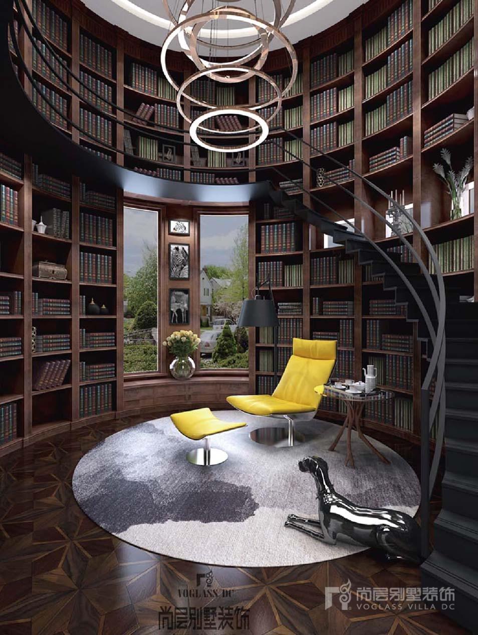 1000平豪宅书房装修完工实景