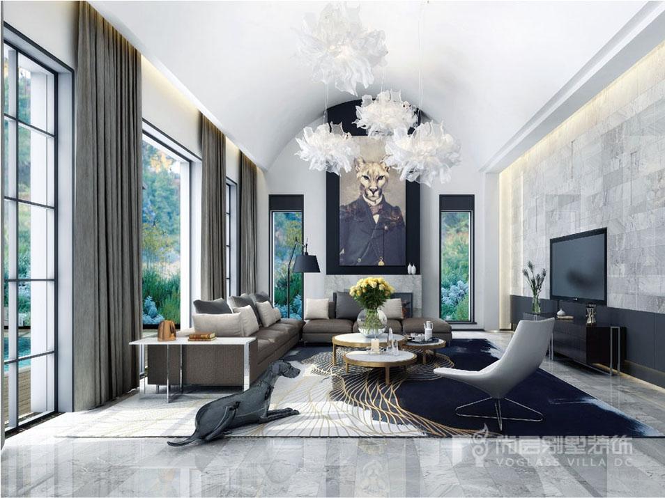 1000平豪宅家庭室装修完工实景