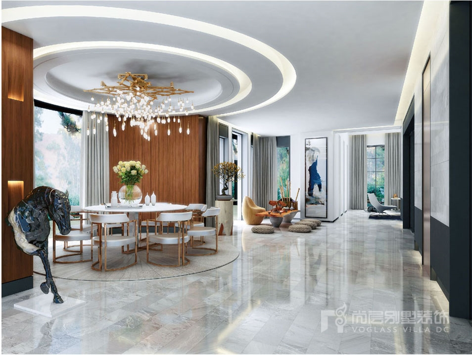 1000平豪宅餐厅装修完工实景