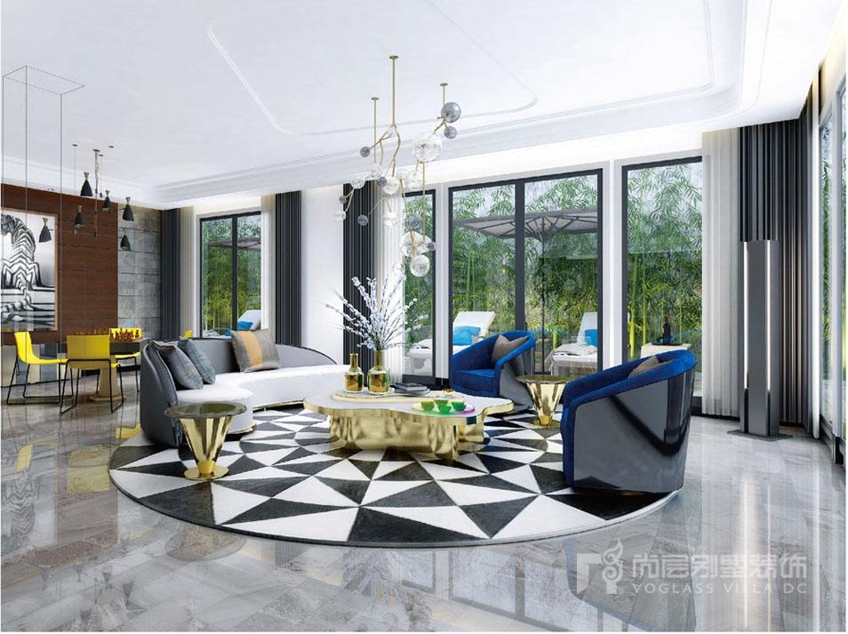 1000平豪宅客厅装修完工实景图