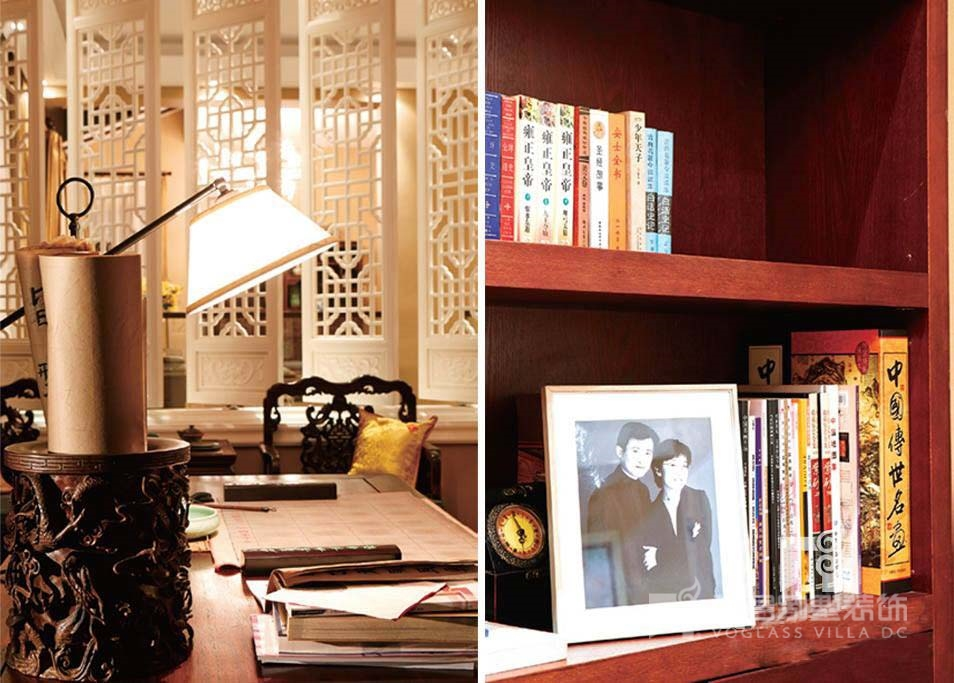 木質的使用讓書房充滿濃濃的中式風