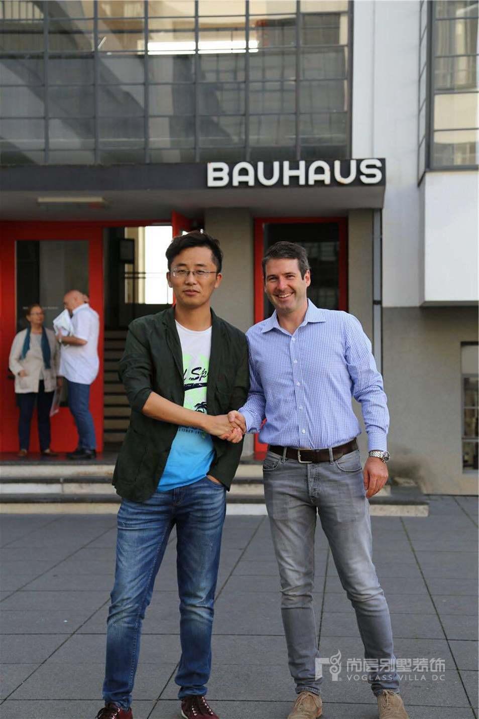 尚层装饰设计师李福祥在包豪斯设计学院学习交流
