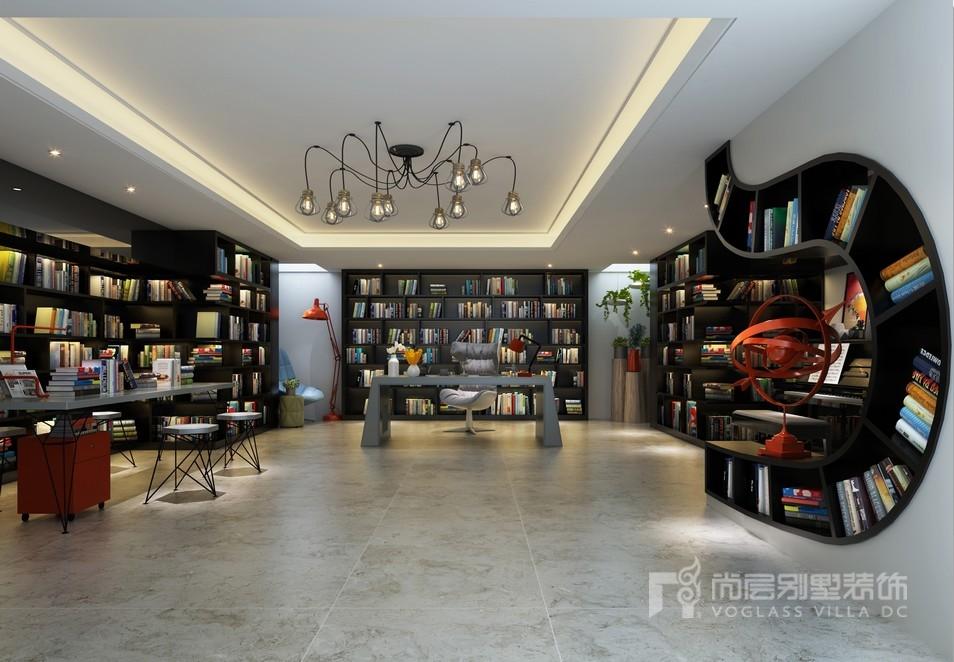 现代风格书房装修设计效果图