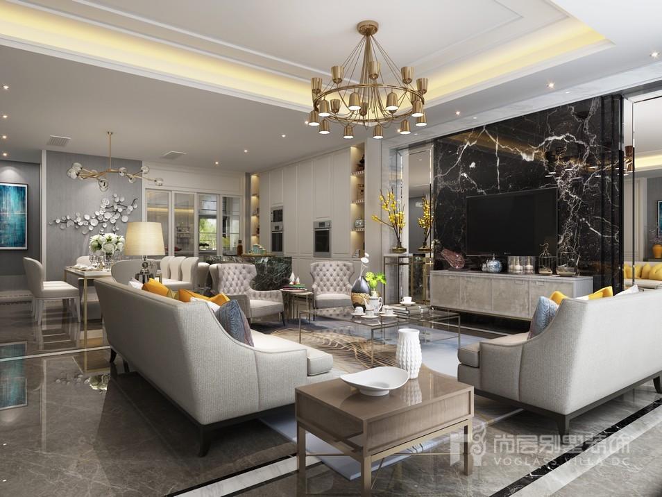 宝华源墅现代风格客厅设计效果图