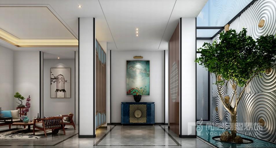 新中式门厅设计效果图
