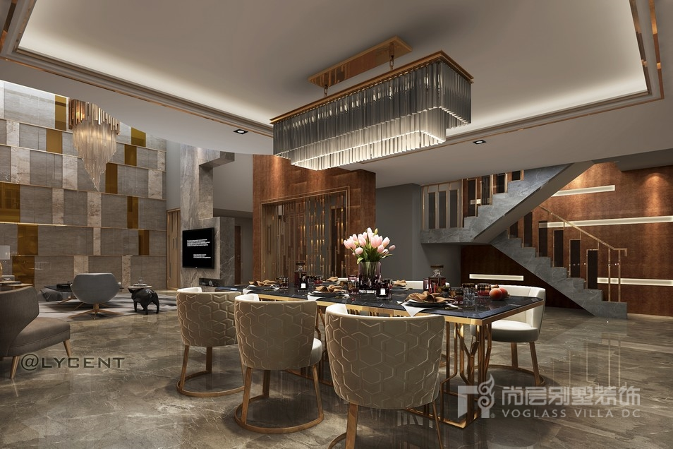 宝华源墅负一层餐厅设计效果图