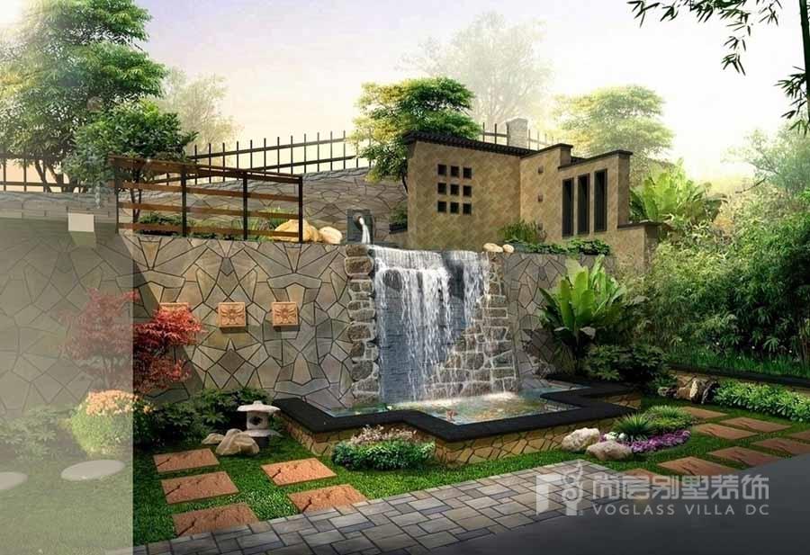 別墅小花園設計效果圖