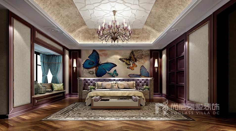 上京王府别墅新中式卧室装修效果图