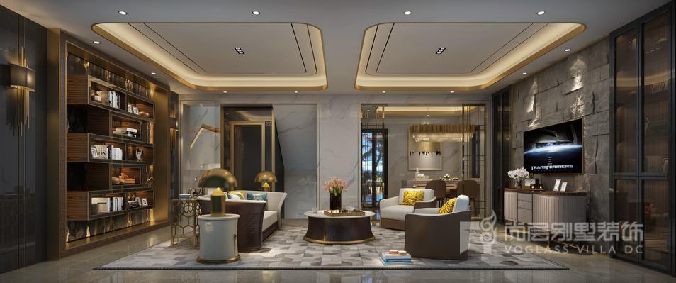 保利茉莉公馆客厅设计效果图