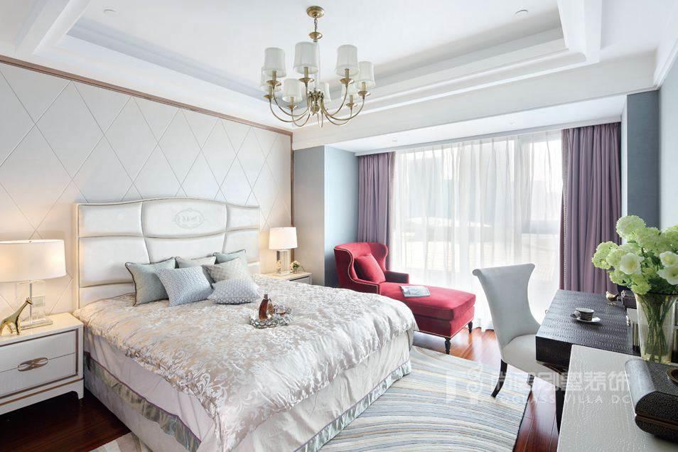 别墅设计案例卧室实景图