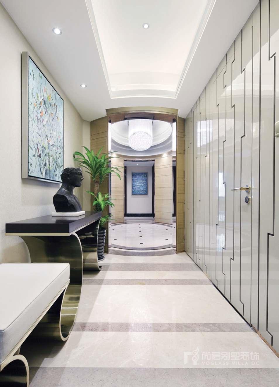 别墅设计案例走廊实景图
