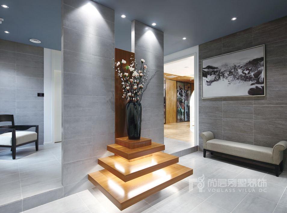 尚层装饰别墅设计案例-门厅实景图
