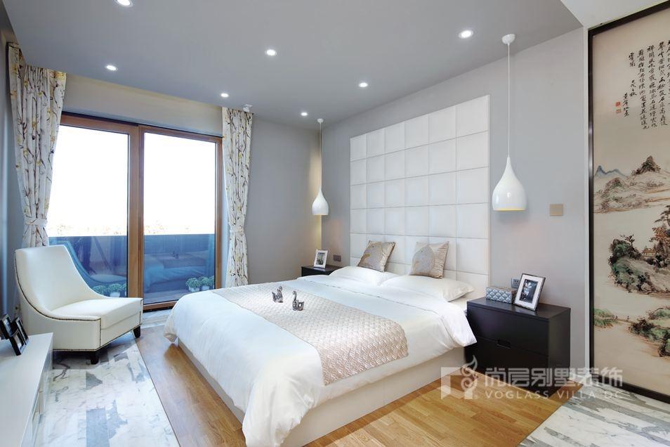 尚层装饰别墅设计案例-卧室实景图