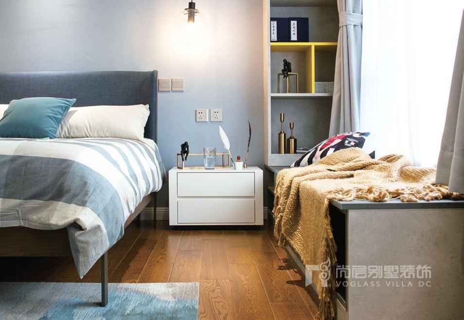 北京别墅设计公司尚层装饰卧室实景图