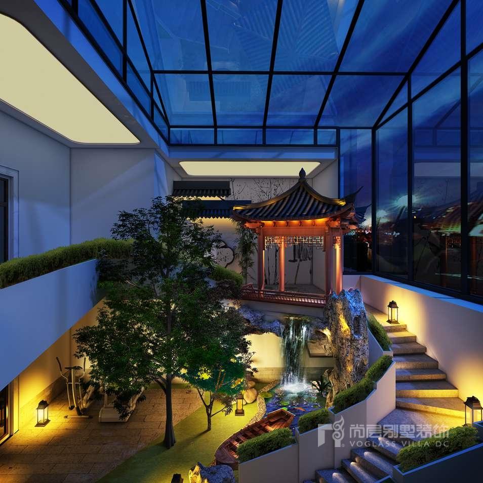 私家别墅花园设计效果图