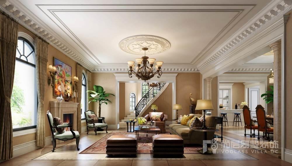 圣堡别墅客厅装修效果图