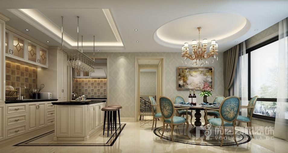 法式风格厨房餐厅装修设计效果图