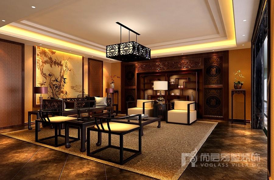 中式风格茶室装修设计效果图