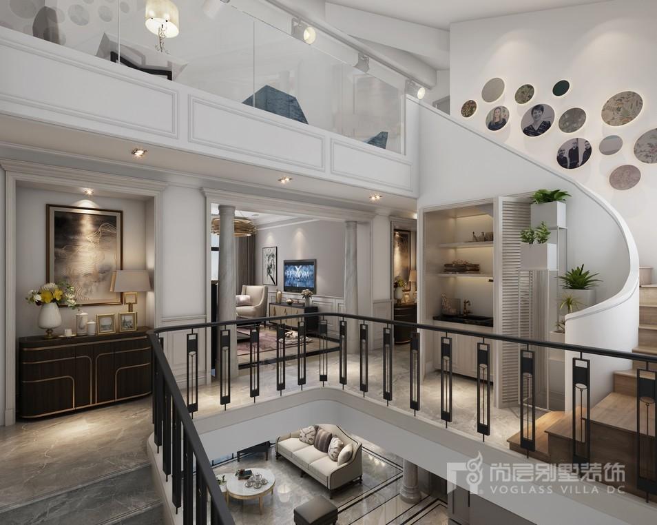 东郊罗兰二楼楼梯装修设计效果图