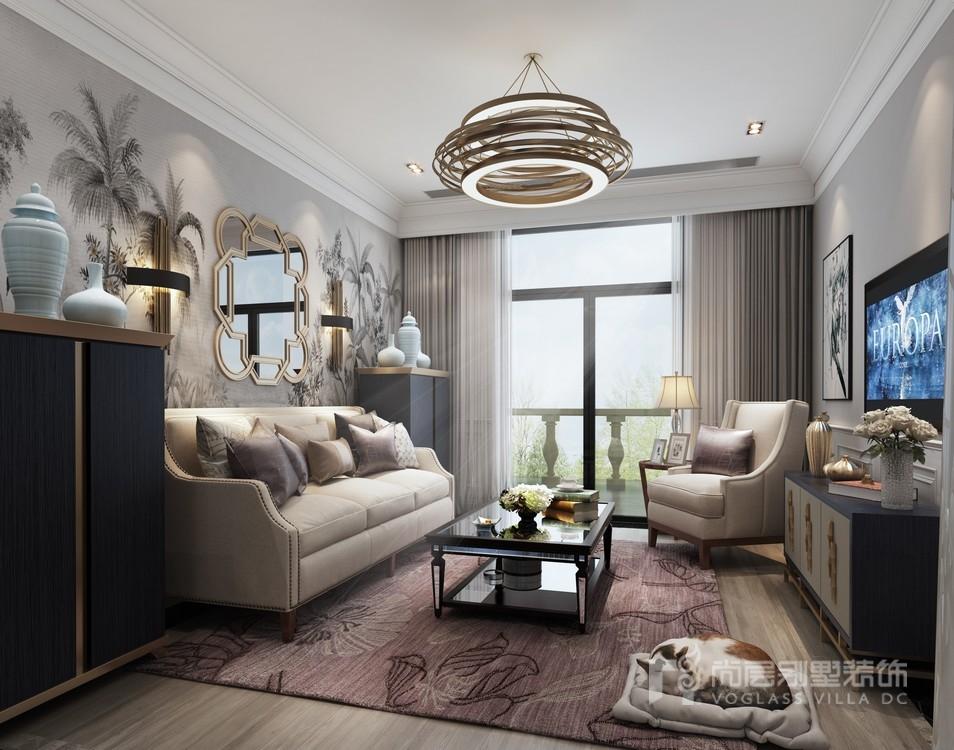 东郊罗兰二楼起居休息室装修设计效果图