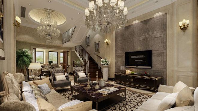 御沁园新装饰主义风格客厅装修效果图
