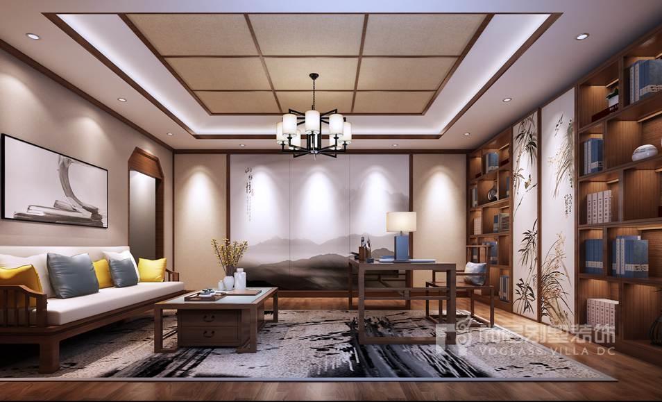 八大处山庄——新中式风格别墅装修设计,美到骨子里的中国风!