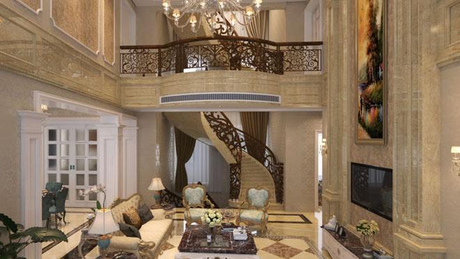 灿辉晶华欧式新古典客厅装修效果图