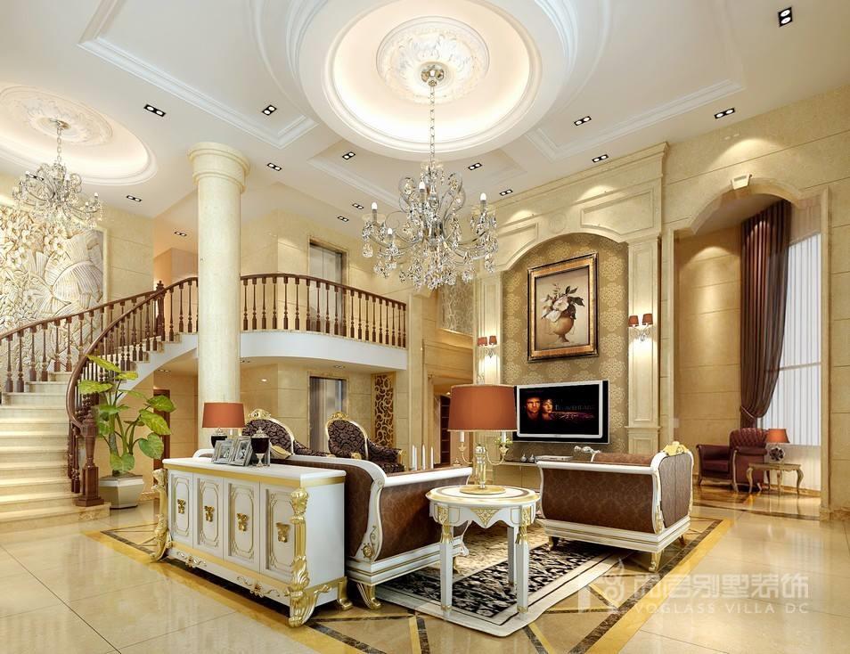 御佳园简欧风格客厅装修设计效果图