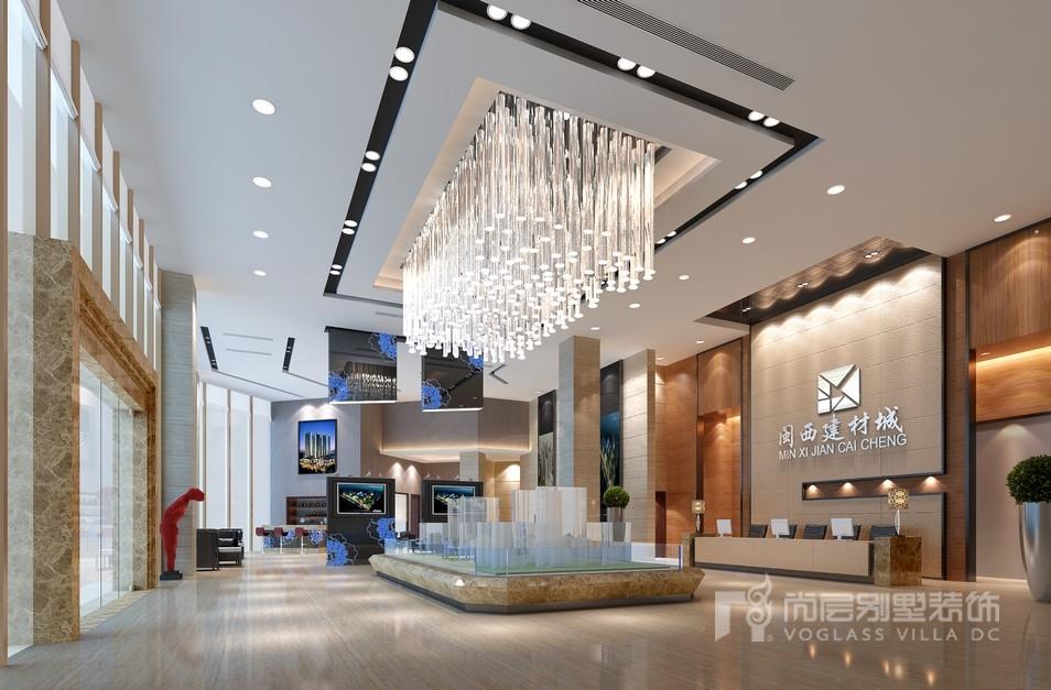 1300平米大厅工装设计效果图