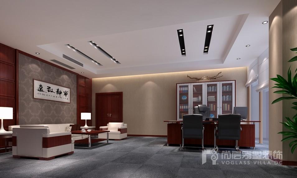 工装总经理室设计效果图