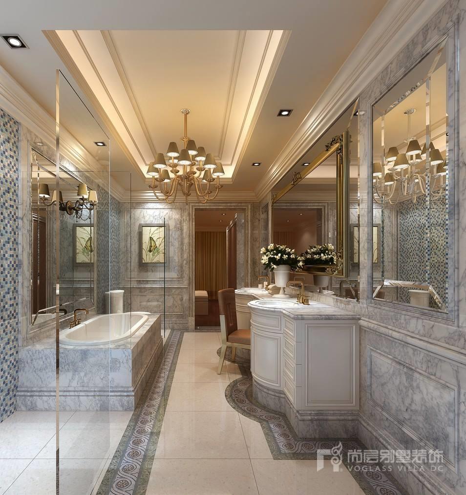 现代法式卫生间装修设计效果图