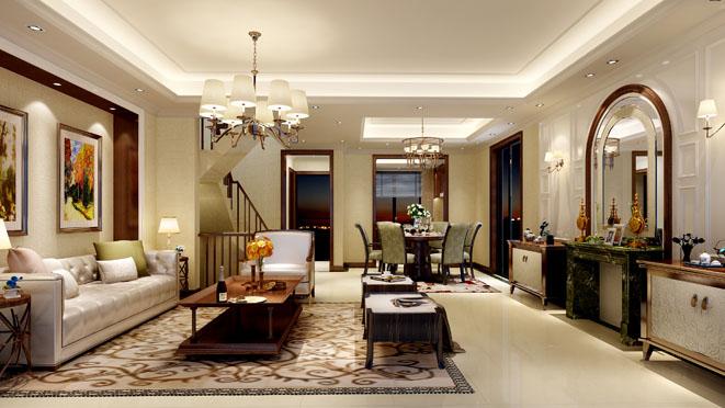 简美风格客厅装修设计小骨头