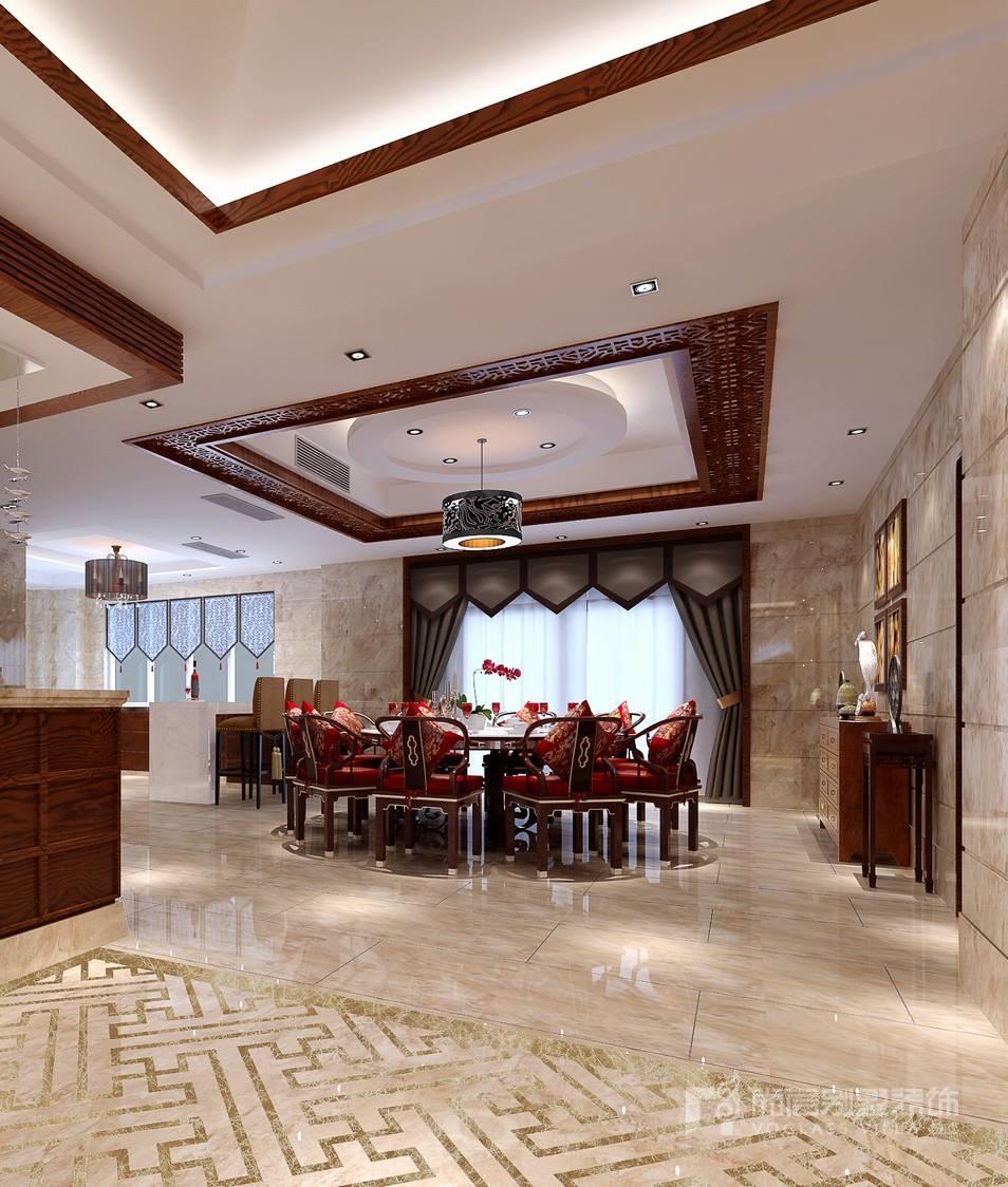 新中式风格餐厅装修设计效果图
